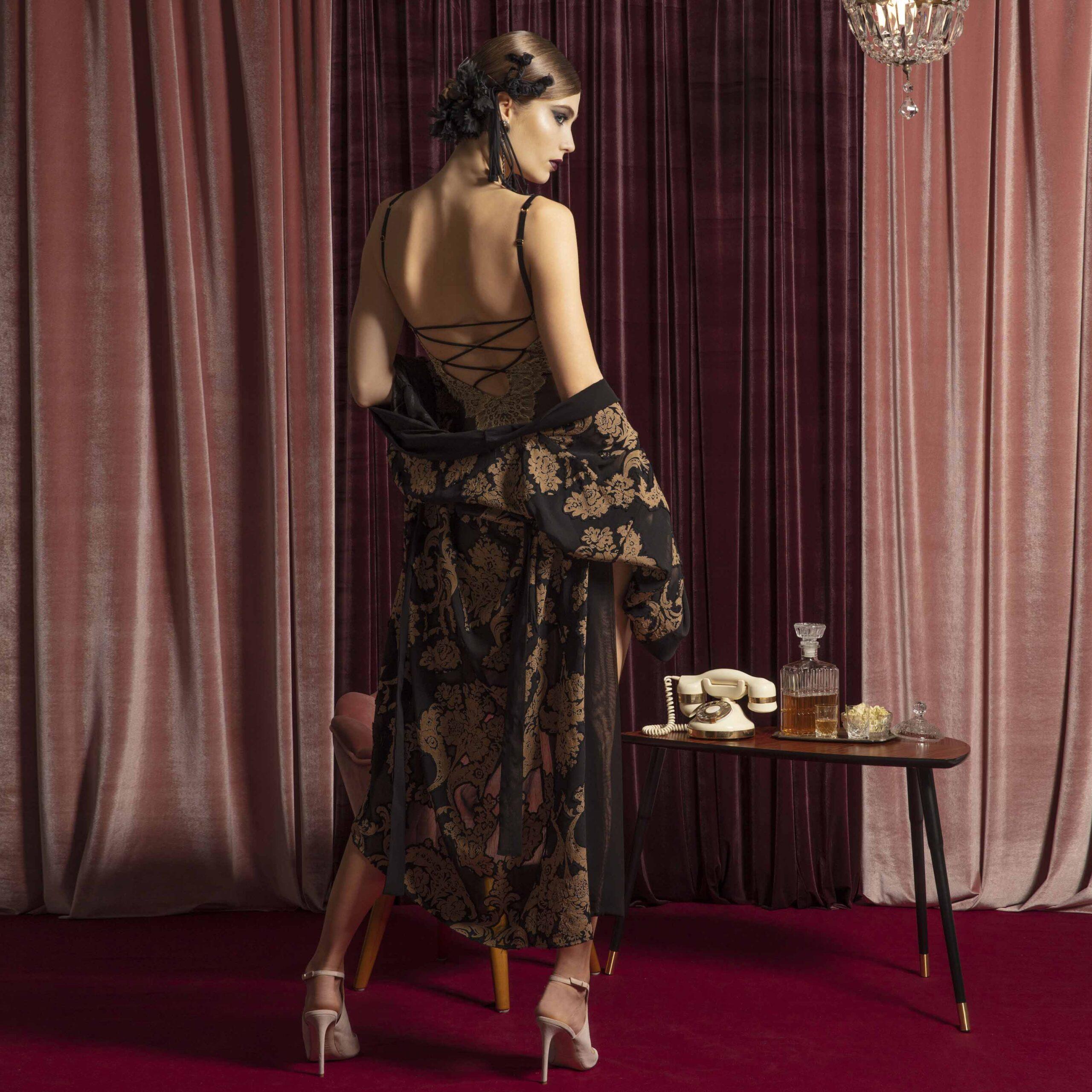 babydollo-kimono-nero-valery-prestige-lingerie-donna-autunno-inverno-2022