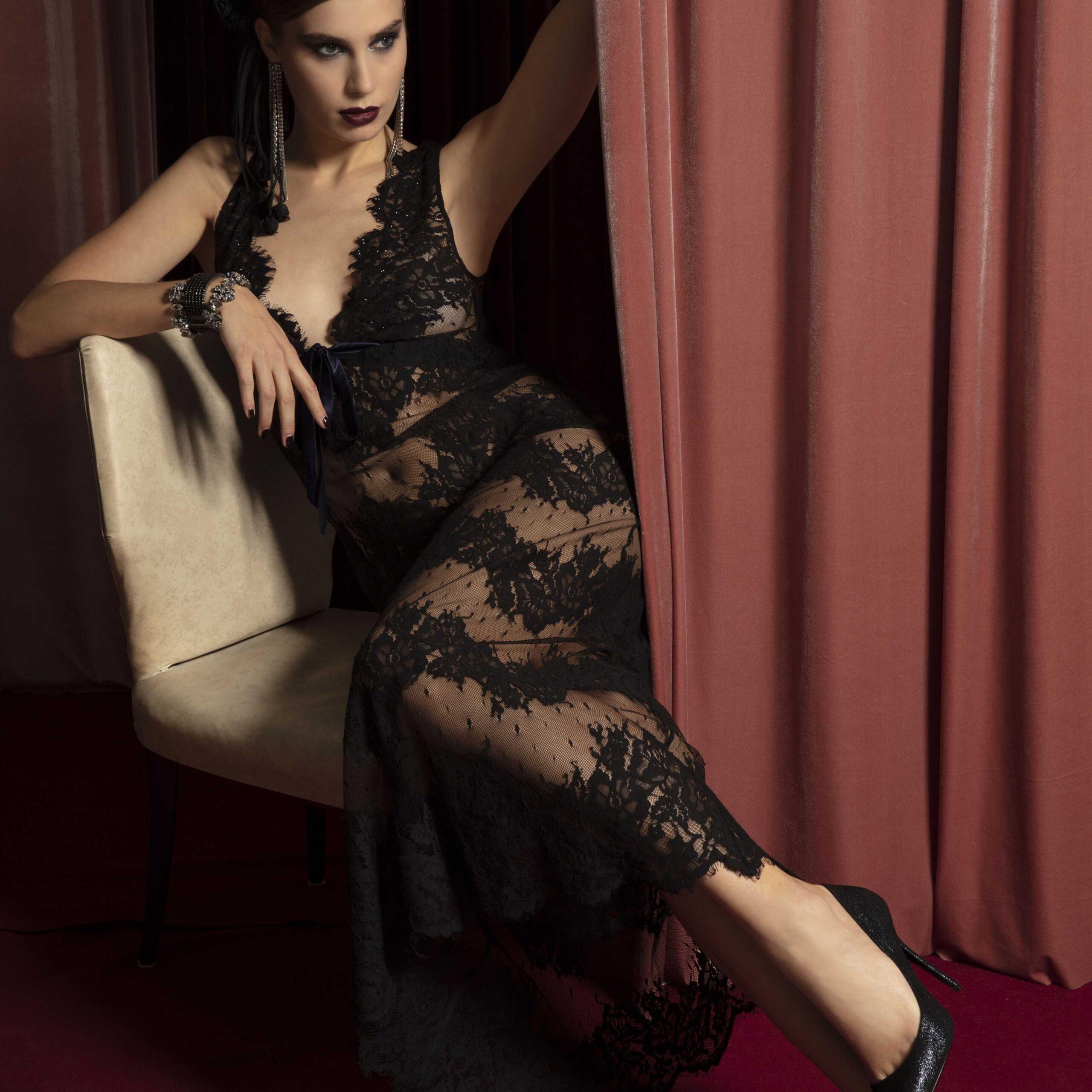 vestito-pizzo-nero-valery-prestige-lingerie-donna-autunno-inverno-2022